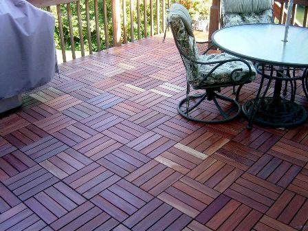 Curupay over redwood deck, Denver CO. - Decking Tiles, Deck Tiles, Wood Deck Tiles, Curupay Wood Deck Tiles